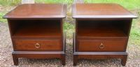 Pair Low Stag Minstrel Bedside Cabinets